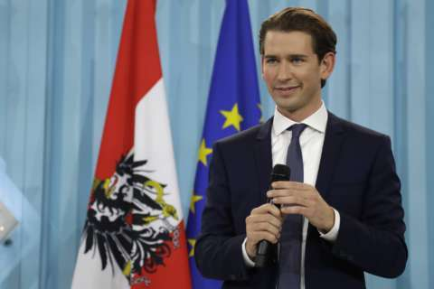 Austrian poised to become Europe's 1st millennial leader