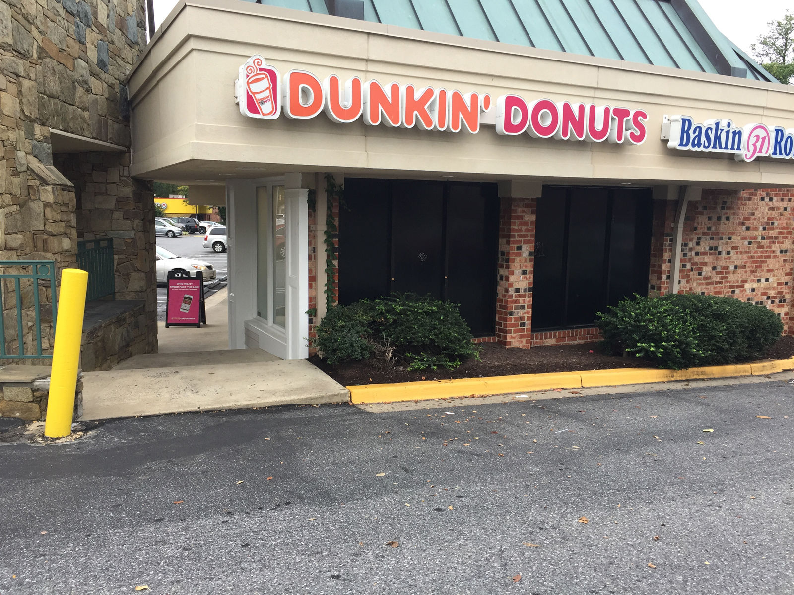 A spokesperson for Montgomery County Fire and EMS said the bee hive was across the street from the school near a Dunkin Donuts, 32 students were reported as stung. (WTOP/Dennis Foley)