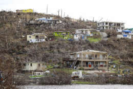 This photo provided by the British Royal Navy shows the destruction after Hurricane Irma, in Virgin Gorda, British Virgin Islands, Tuesday, Sept. 19, 2017. Forecasters warned Hurricane Maria would remain a Category 4 or 5 storm until it moves over the Virgin Islands and Puerto Rico.  The storm's hurricane-force winds extended out about 35 miles (45 kilometers) and tropical storm-force winds out as far as 125 miles (205 kilometers).  Hurricane warnings were posted for the U.S. and British Virgin Islands, Puerto Rico, Guadeloupe, Dominica, St. Kitts, Nevis and Montserrat. (Joel Rouse/Royal Navy via AP)