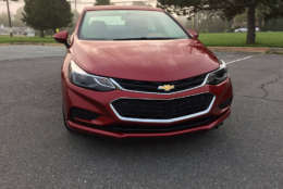 The Cruze isn't the sportiest compact on the market but it does surprise you on back roads and soaks most bumps very well. The noise is kept in check on the highway making it one of the more hushed compacts. (WTOP/Mike Parris)