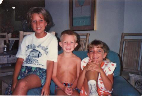 From left to right, Ashley, Vincent and Lauren Carrano in the summer of 1993 in Myrtle Beach, Florida. One year later, Lauren was diagnosed with Leukemia. She died in 1996 a few weeks before her ninth birthday. (Courtesy Vincent Carrano)