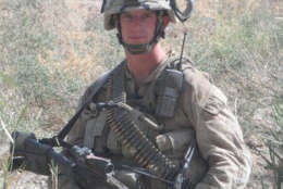Photo of Vincent Carrano on a combat patrol in Marjah, Afghanistan, in July 2010. (Courtesy Vincent Carrano)