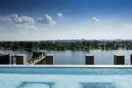 The Channel's infinity pool overlooks the Potomac River. (Courtesy The Wharf/Matthew Borkoski)