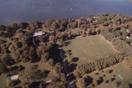 A drone view of the Russian compound on Maryland's Eastern Shore, closed by the Obama administration in December 2016 over Russia's meddling in the presidential election.  (Photo from drone footage by Josh Davidsburg and Jamal Francis/Capital News Service)
