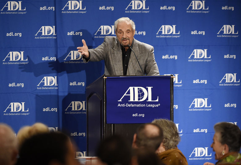 BEVERLY HILLS, CA - NOVEMBER 07: Actor and activist Hal Linden, speaks during salute to Abraham Foxman by the Anti-Defamation League (ADL) 2014 Annual Meeting at The Beverly Hilton November 07, 2014 in Beverly Hills, California. (Photo by Kevork Djansezian/Getty Images)