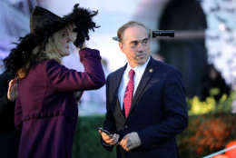WASHINGTON, DC - OCTOBER 30:  U.S. Secretary of Veterans Affairs David Shulkin (R) attends Halloween at the White House on the South Lawn October 30, 2017 in Washington, DC. President Donald Trump and first lady Melania Trump gave cookies away to costumed trick-or-treaters one day before the Halloween holiday.  (Photo by Chip Somodevilla/Getty Images)