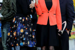 WASHINGTON, DC - OCTOBER 30:  U.S. Education Secretary Betsy DeVos (L), who was dressed as Ms. Frizzle from 'The Magic Schoolbus' series, and Counselor to the President Kellyanne Conway attend Halloween at the White House on the South Lawn October 30, 2017 in Washington, DC. President Donald Trump and first lady Melania Trump gave cookies away to costumed trick-or-treaters one day before the Halloween holiday.  (Photo by Chip Somodevilla/Getty Images)