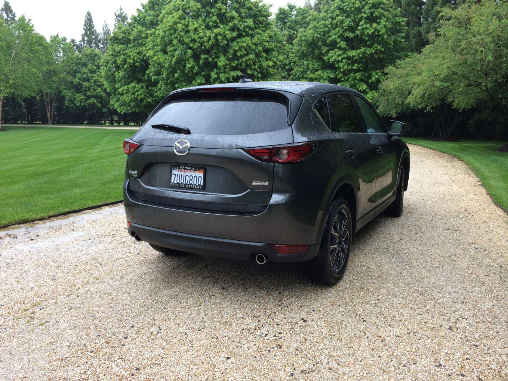 THe CX-5 hasn't lost any of the sporty handling. There is now a more composed ride on bumps, the harshness it had before is gone and the cabin is more hushed too. (WTOP/Mike Parris)