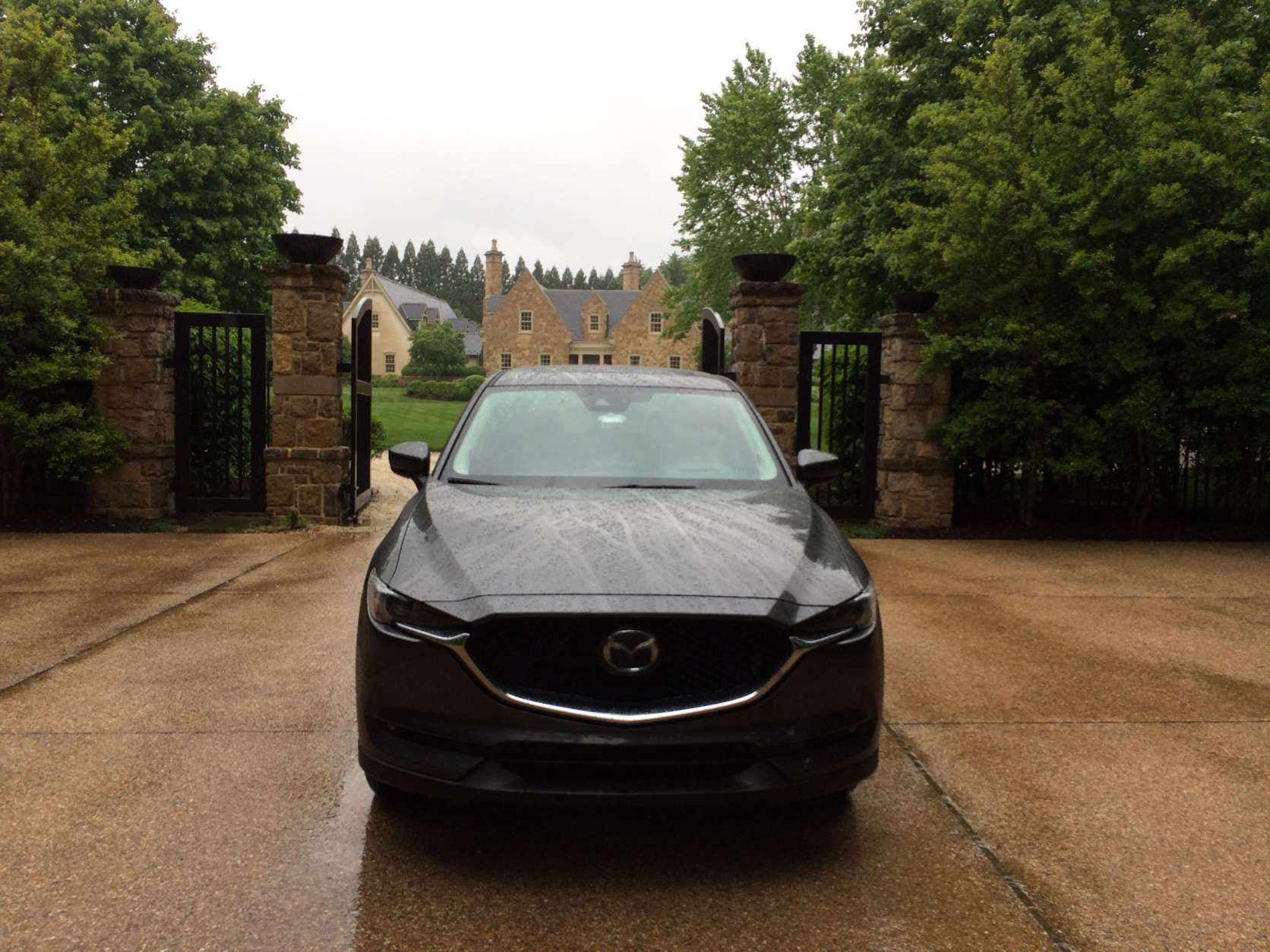The Grand Touring model with all the options costs $34,085. Fuel economy for the AWD CX-5 is a combined 26 mpg, but Parris only managed 24.5 in 336 miles of driving. (WTOP/Mike Parris)