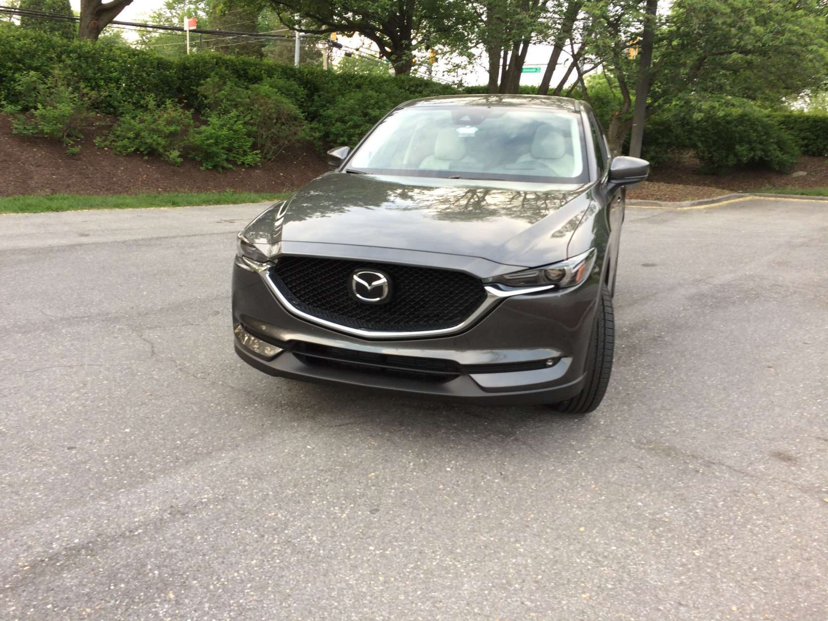 The 2017 Mazda CX-5 Grand Touring has updated its front end with new headlights and a new grill. (WTOP/Mike Parris)