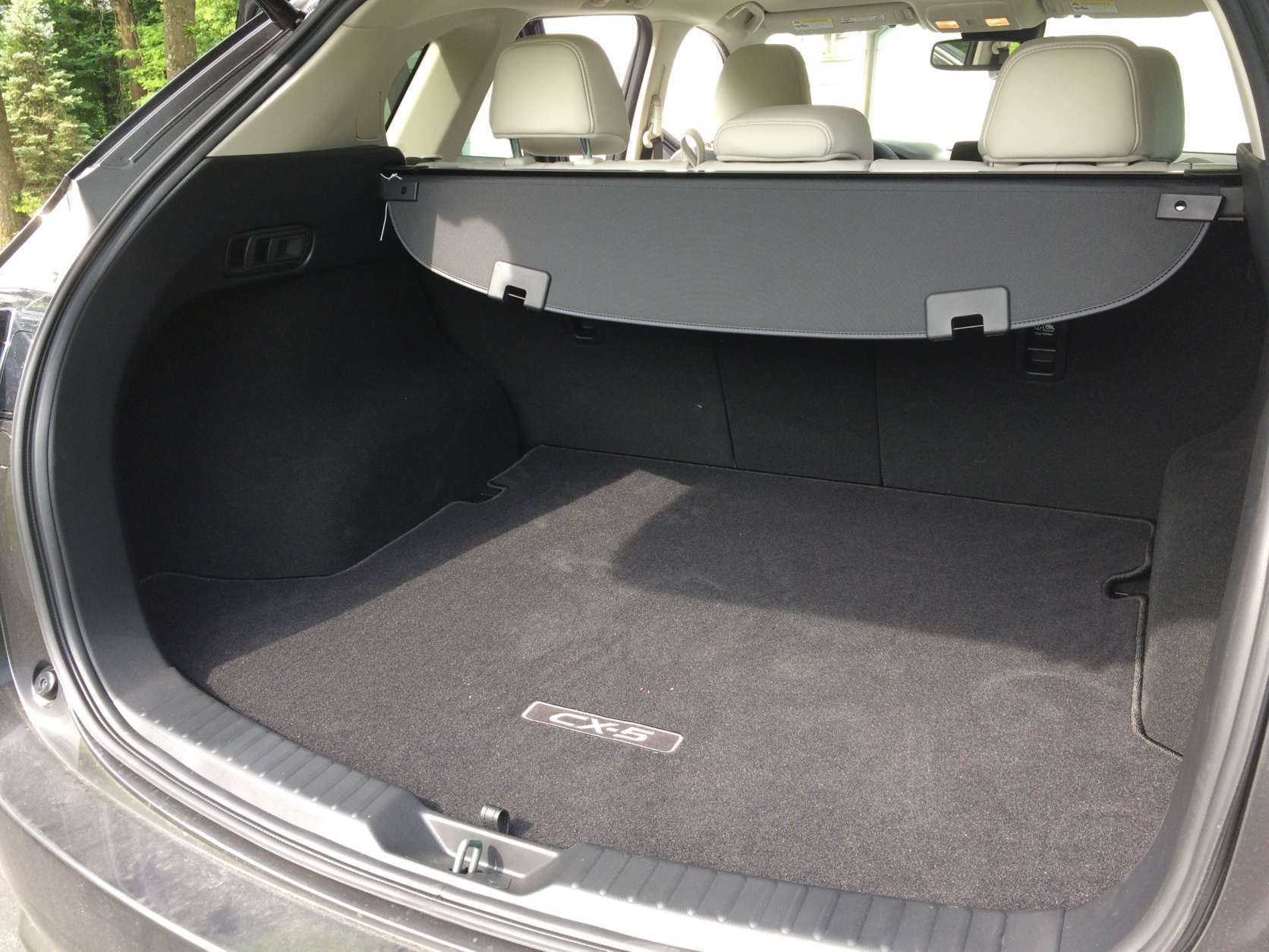 Cargo space is competitive in the class with good room. (WTOP/Mike Parris)
