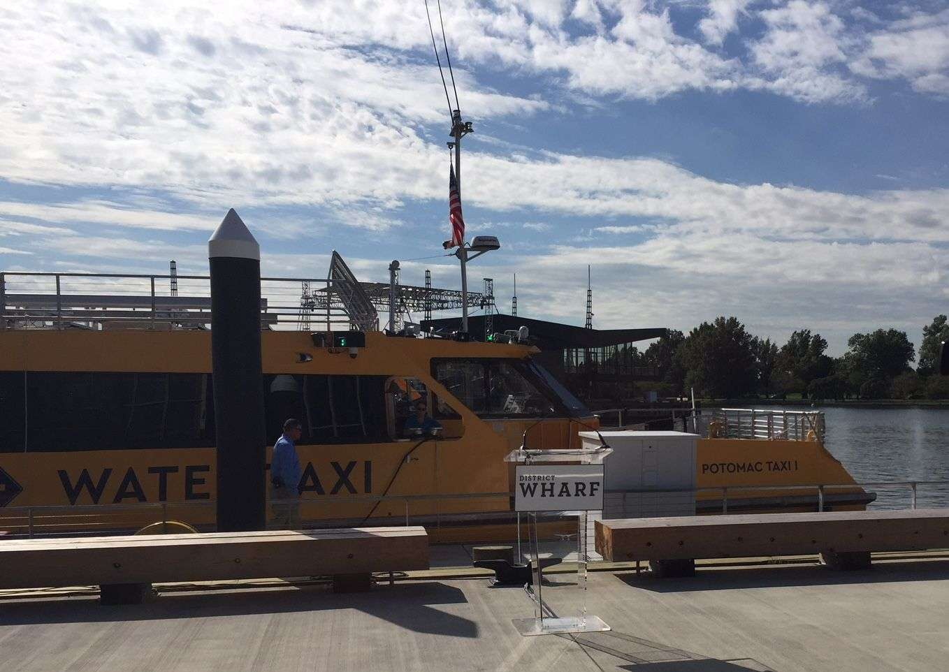 Starting Thursday, The Potomac Water Taxi will connect The Wharf with both Georgetown and Old Town Alexandria. (WTOP/Jack Pointer)