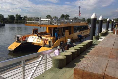 As Wharf launch drifts closer, a new water taxi embarks on a maiden voyage