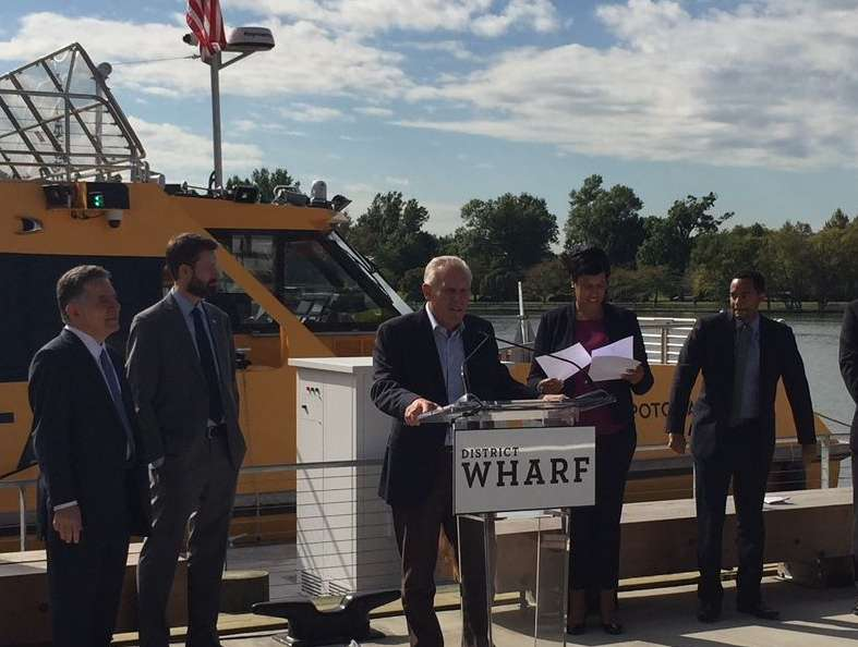 """There was a large investment into these water taxis, and a big commitment on the next several years to really launch and sustain a successful program,"" said Monty Hoffman, founder and CEO of Wharf co-developer PN Hoffman. (WTOP/Jack Pointer)"
