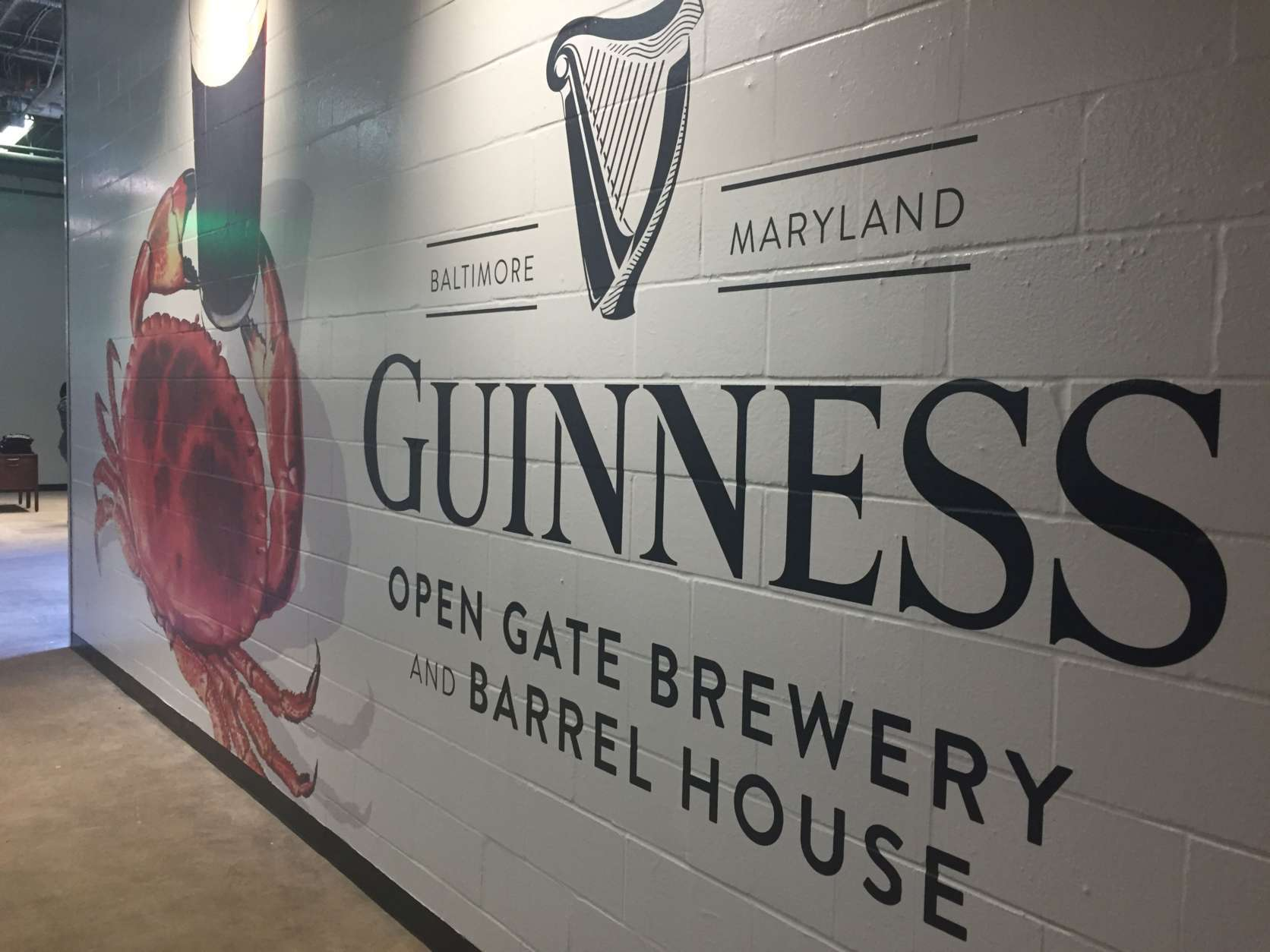 Guinness opens the doors Friday to its test taproom in Halethorpe, Maryland, offering a first look at what will be the Guinness Open Gate Brewery & Barrel House, a brewery and visitors center. (WTOP/Jack Pointer)