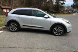 This hybrid excels at blending the looks of crossover and hybrid.  (WTOP/Mike Parris)