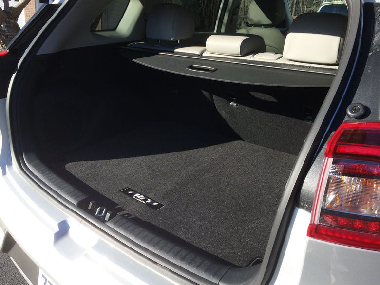A look at trunk space in the Kia Niro Touring. (WTOP/Mike Parris)