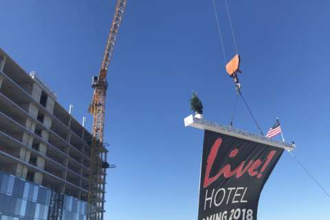 Live! Hotel, Anne Arundel County's tallest building, 'tops off'