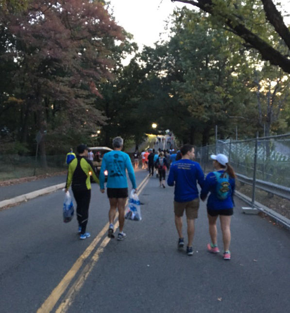 A look at the view for WTOP's Sarah Beth Hensley as she ran the Marine Corps Marathon. (WTOP/Sarah Beth Hensley)
