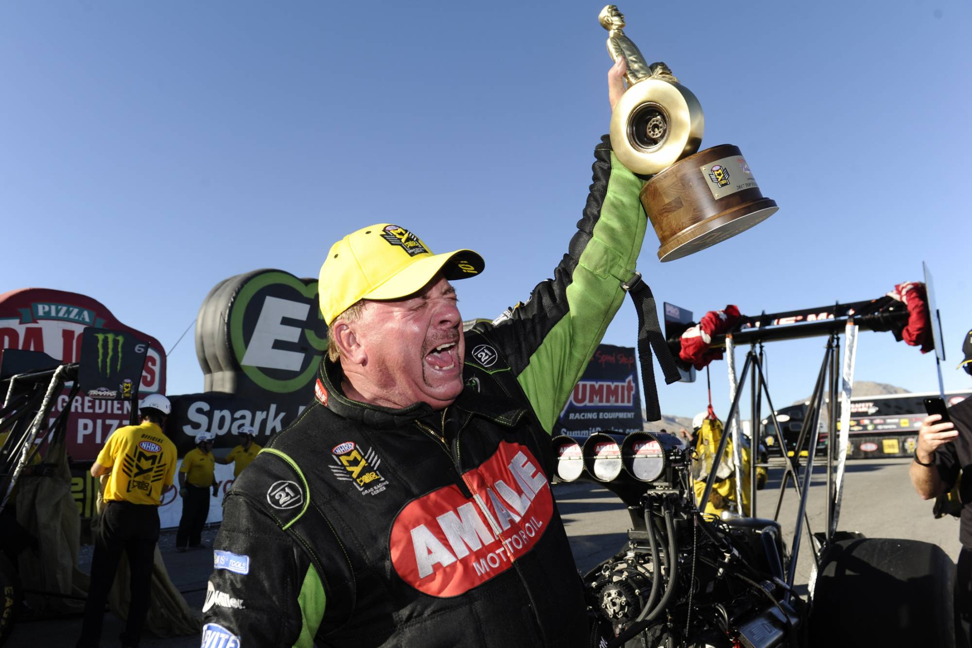 Mcmillen wins top fuel at nhra toyota nationals wtop for How long is las vegas motor speedway
