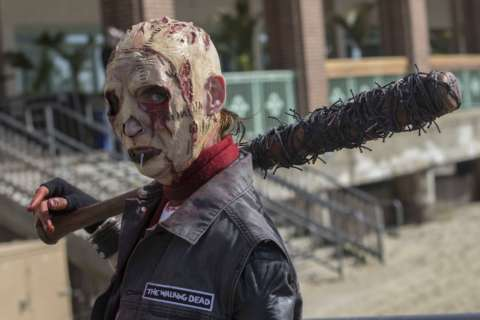 Hundreds of undead people take part in annual zombie walk