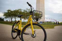 Ofo plans to distribute its yellow bikes throughout D.C. as part of a six-month pilot program the District is trying with dock-free, bike-sharing programs. (Courtesy PRNewsfoto/Ofo)