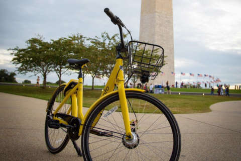 Ofo rolls yellow bikes into DC; joins other dockless bike apps for trial run