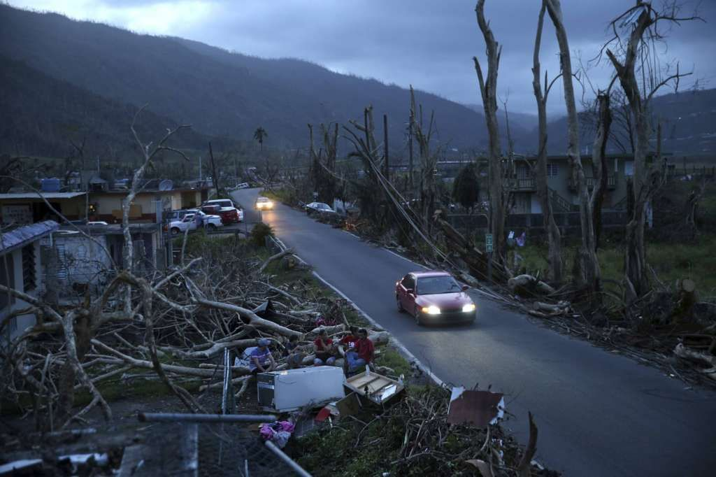 Two Annapolis Police officers with family in the Caribbean have joined forces to organize a local hurricane relief effort to bring desperately needed supplies to Puerto Rico and the U.S. Virgin Islands.(AP Photo/Gerald Herbert)