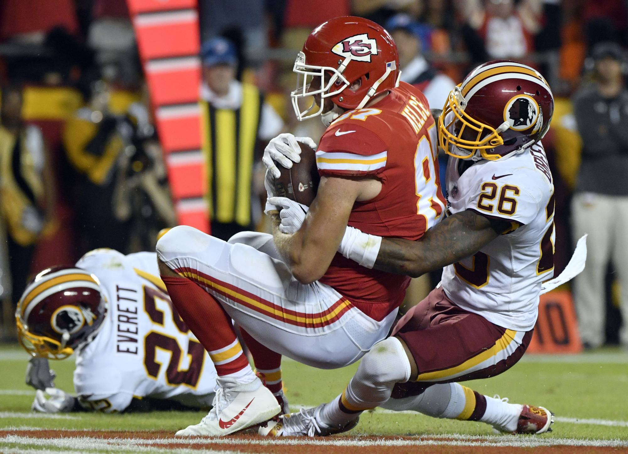latimes.com Butker s field goals send Chiefs to 29-20 win over Redskins 3691bc0ff