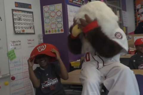 Nationals surprise local school with NLDS playoff tickets (Video)