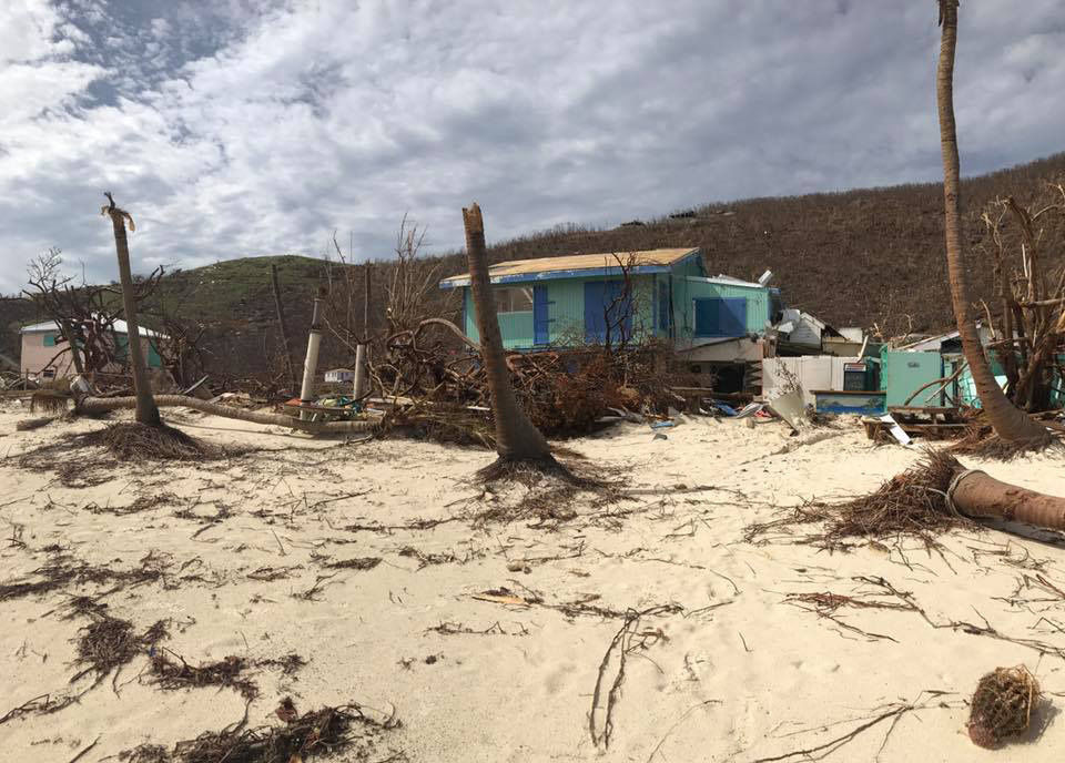 A D.C.-area man who owns the iconic Soggy Dollar Bar in the Virgin Islands is working to raise money to repair parts of the hurricane damaged island. (Courtesy Soggy Dollar Bar)