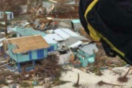 A view of some of the damage on the Virgin Islands left by Hurricane Irma. (Courtesy Soggy Dollar Bar)