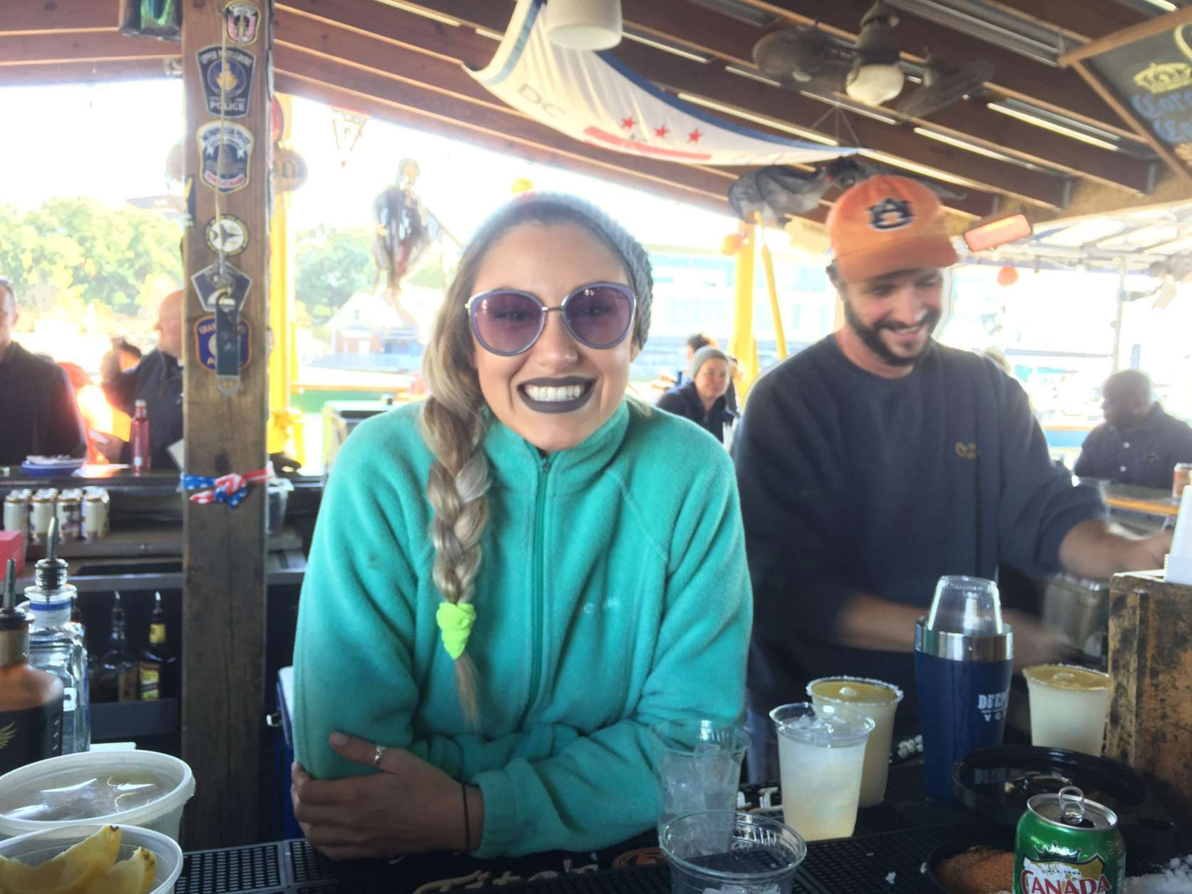 """It's fresh air. You're on the water. You feel like you're on the beach. It's great,"" said bartender Marley Robertson, of Southwest D.C. (WTOP/Kristi King)"