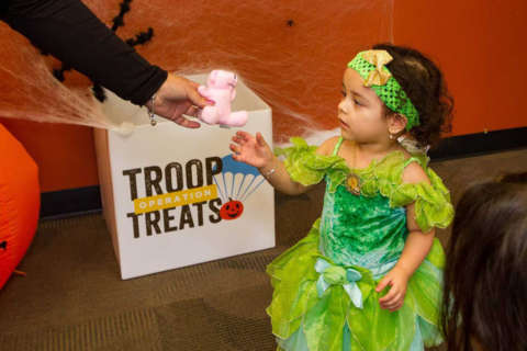 Get rid of extra Halloween candy and treat the troops