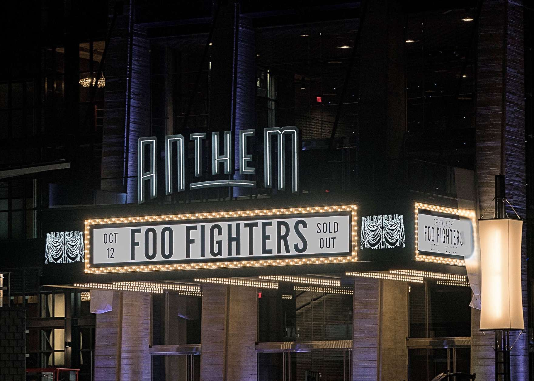 The Anthem marque looks even sexier at night. (John Shore)