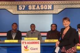 "On ""It's Academic,"" Banneker High School competed against Lake Braddock and St. John's. The show aired Feb. 24, 2018. (Courtesy Facebook/It's Academic)"