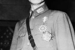 Generalissimo Chiang Kai-shek on August 3, 1943. Location unknown.  (AP Photo/Pool)