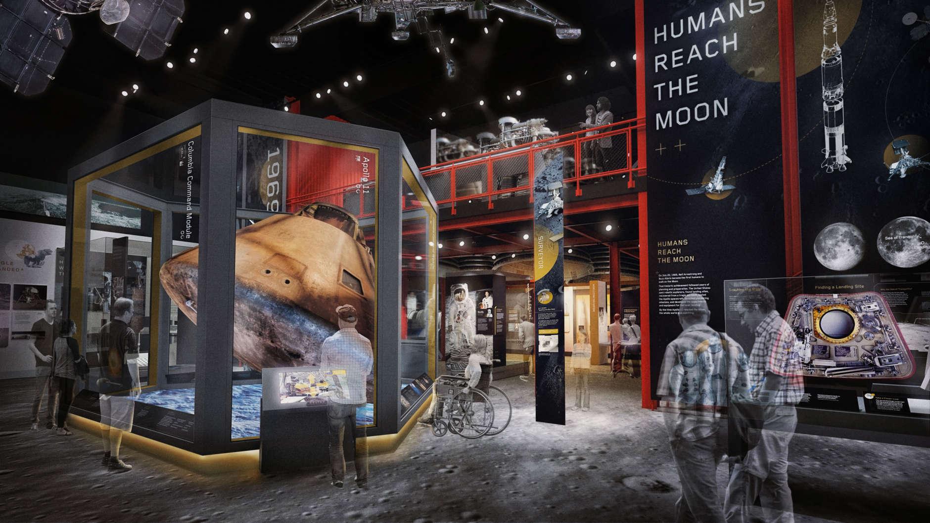 "The ""Destination Moon"" exhibit. (Copyright: Smithsonian Institution)"