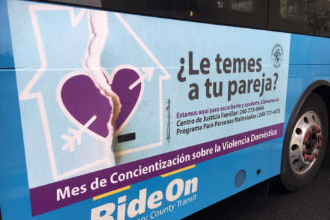 Buses carry message of hope to domestic abuse victims in Montgomery Co.