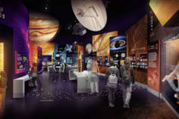 """""""Exploring the Planets"""" is part of the Smithsonian's """"Reimagining"""" of the Air and Space Museum. (Copyright: Smithsonian Institution)"""