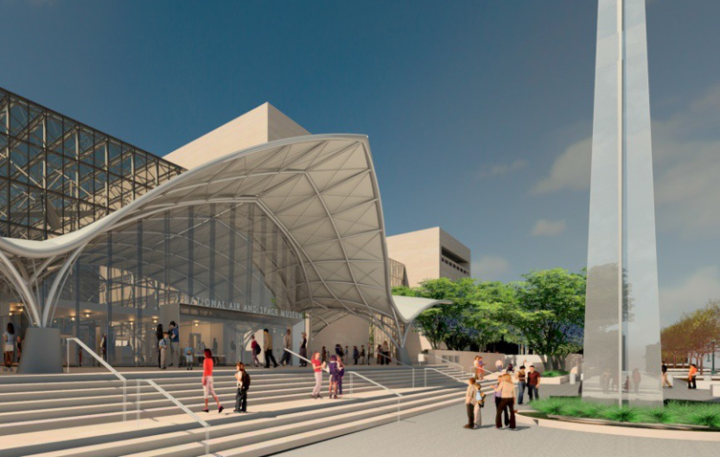 A new entrance is envisioned. (Copyright: Smithsonian Institution)