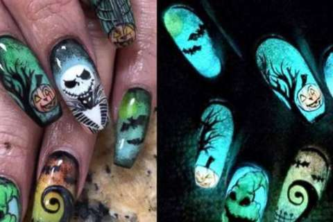 This woman doesn't mess around with her Halloween nail art