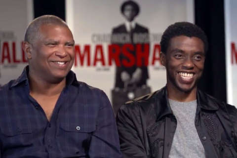 Q&A: Chadwick Boseman dishes on playing Thurgood in 'Marshall' (Video)