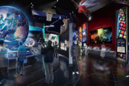 """The """"One World Connected"""" exhibit. (Copyright: Smithsonian Institution)"""