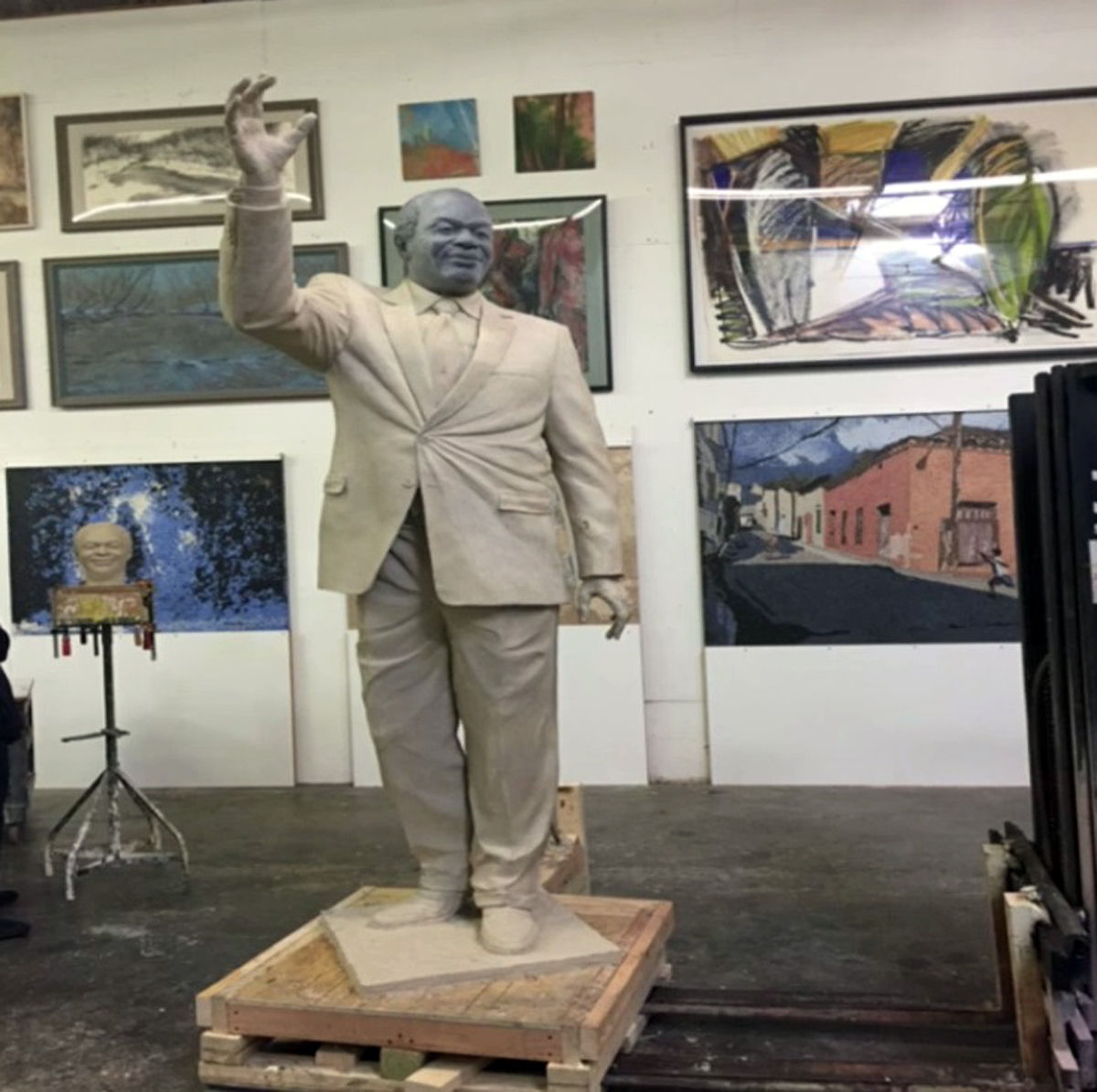 """""""The impact that Marion Barry had on the District is invaluable,"""" said Councilmember Vincent Gray. (Courtesy D.C. Commission on Arts and Humanities)"""