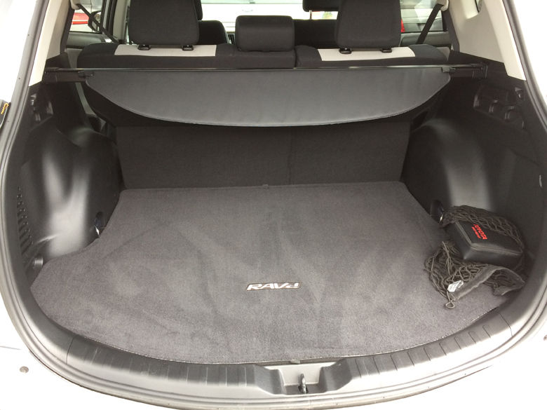 Storage space in the rear is competitive for this class of vehicle and the rear seats fold nearly flat for easy storage or larger items. (WTOP/Mike Parris)