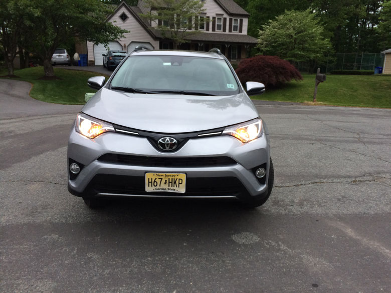 The front end is where the RAV4 shines, with a lot of angles and shapes that make for an interesting look. (WTOP/Mike Parris)