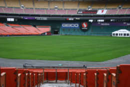 RFK will host the final D.C. United game Oct. 22. The stadium  is seen here on a quiet Friday afternoon earlier this month. (WTOP/Jack Moore)