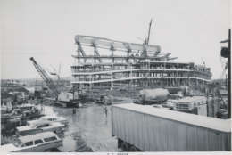 Construction on the stadium in February 1961 -- about eight months before the Redskins played their first game there. (Courtesy EventsDC)