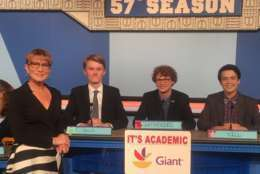 "On ""It's Academic,"" St. Anselm's won against Gaithersburg and Mount Vernon high schools. The show aired Oct. 28, 2017. (Courtesy Facebook/It's Academic)"